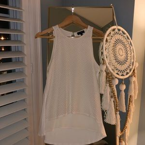 White high low tank top from original The Limited